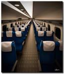 Almost empty Shinkansen