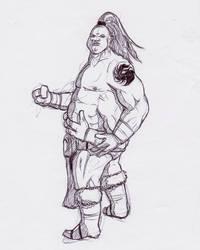 Prince Goro re-design fan art sketch by Oldquaker