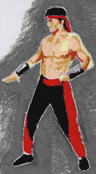 Lui Kang (Mortal Kombat 2 fan art) by Oldquaker