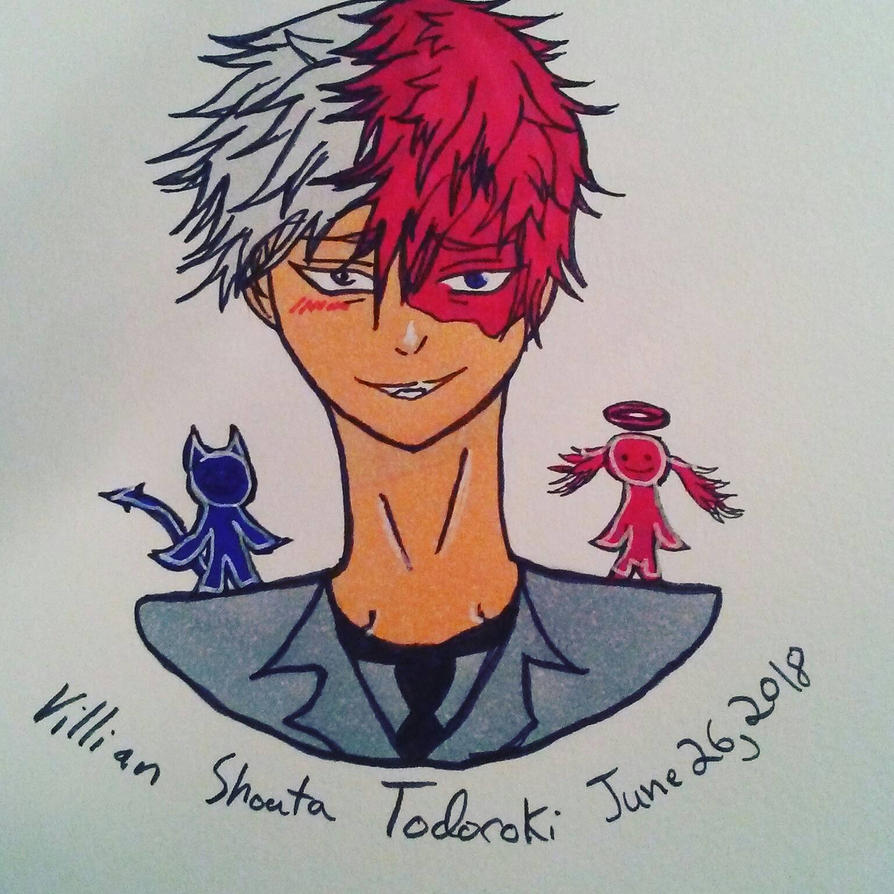 Villain Todoroki by zodiacart14