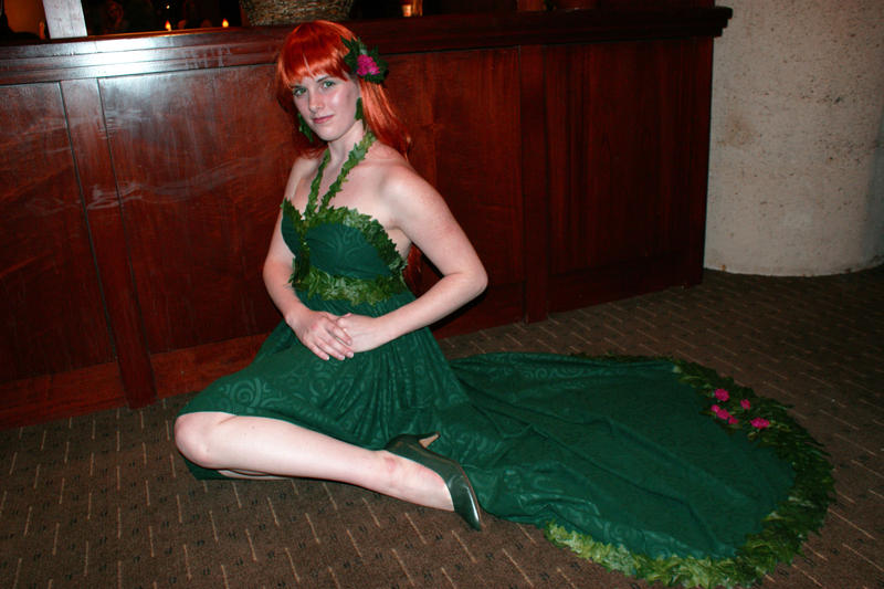 Poison Ivy Ball Gown by lake-fairy