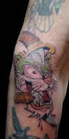 Tattoo Cat Knife - Tattoo'd