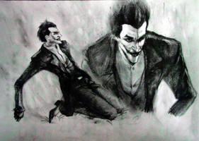 Arkham Origins the Joker sketch by lovejoker4ever