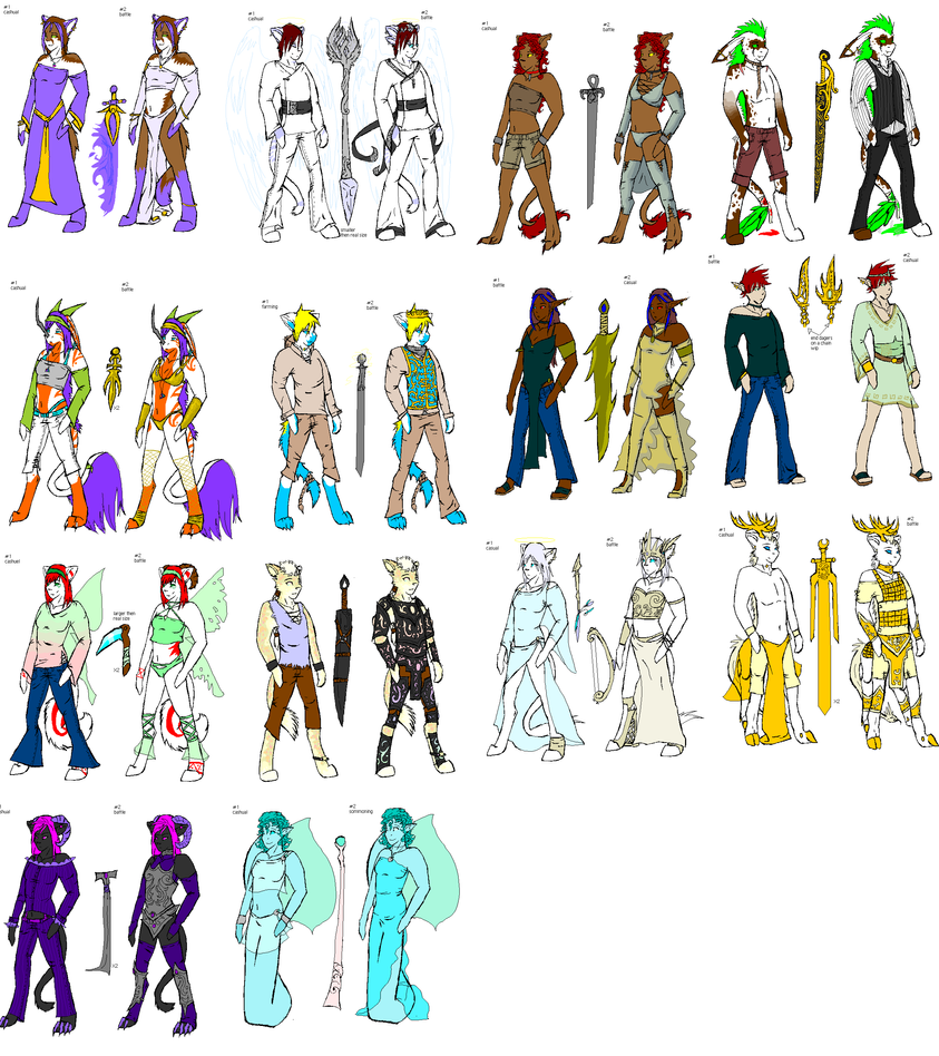 costume project:OC's coloured by thundraforest