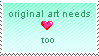 origanal art stamp by thundraforest