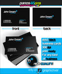 Strict Black Business Card