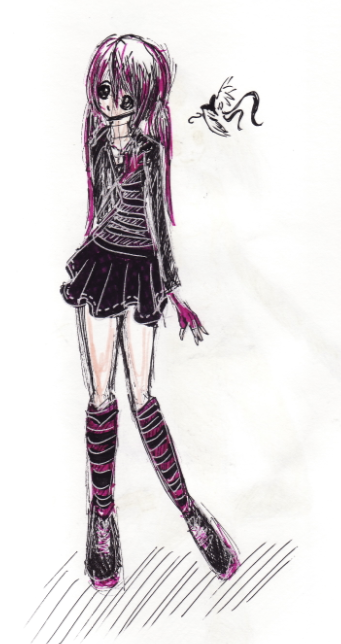 Emo Goth Purple Outfit Thing?? by pcanjjaxdcd