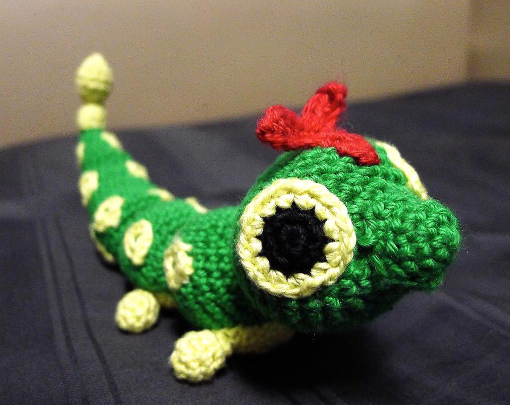 Crocheted Caterpie by pcanjjaxdcd