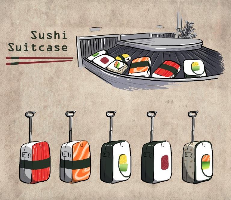 Sushi Suitcase by pcanjjaxdcd