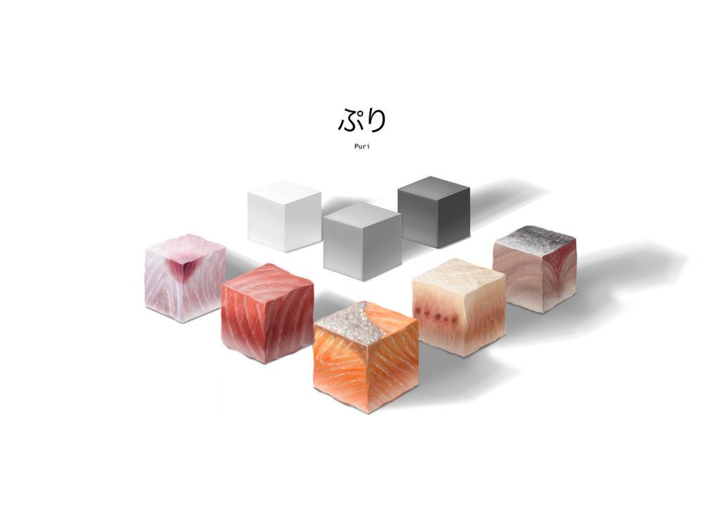 Sushi Cubes by pcanjjaxdcd