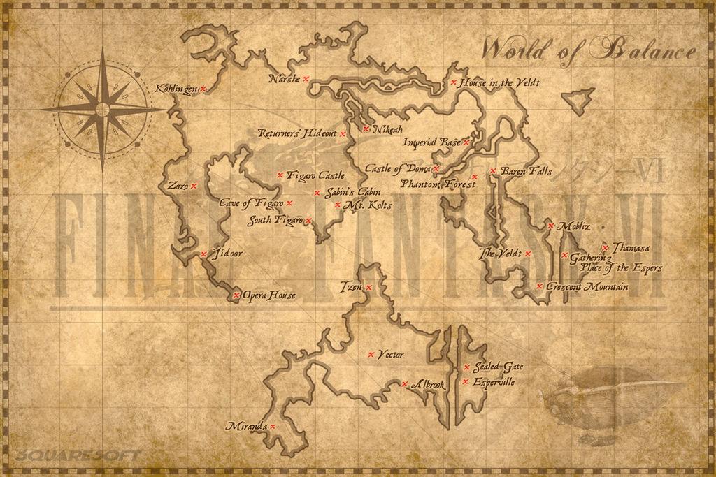 World of Balance Map (FFVI) by clairedelune2501 on DeviantArt