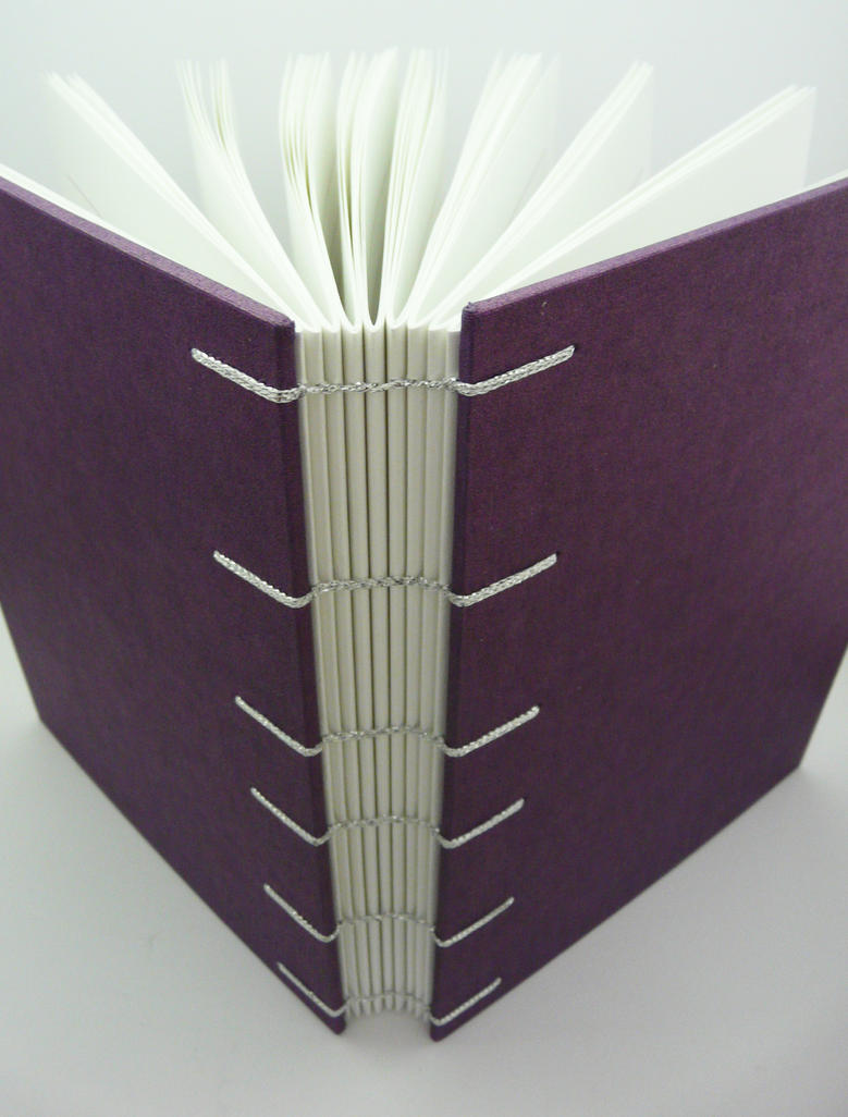 A5 Lined Purple Coptic Journal Outside By Thepressgang Ink