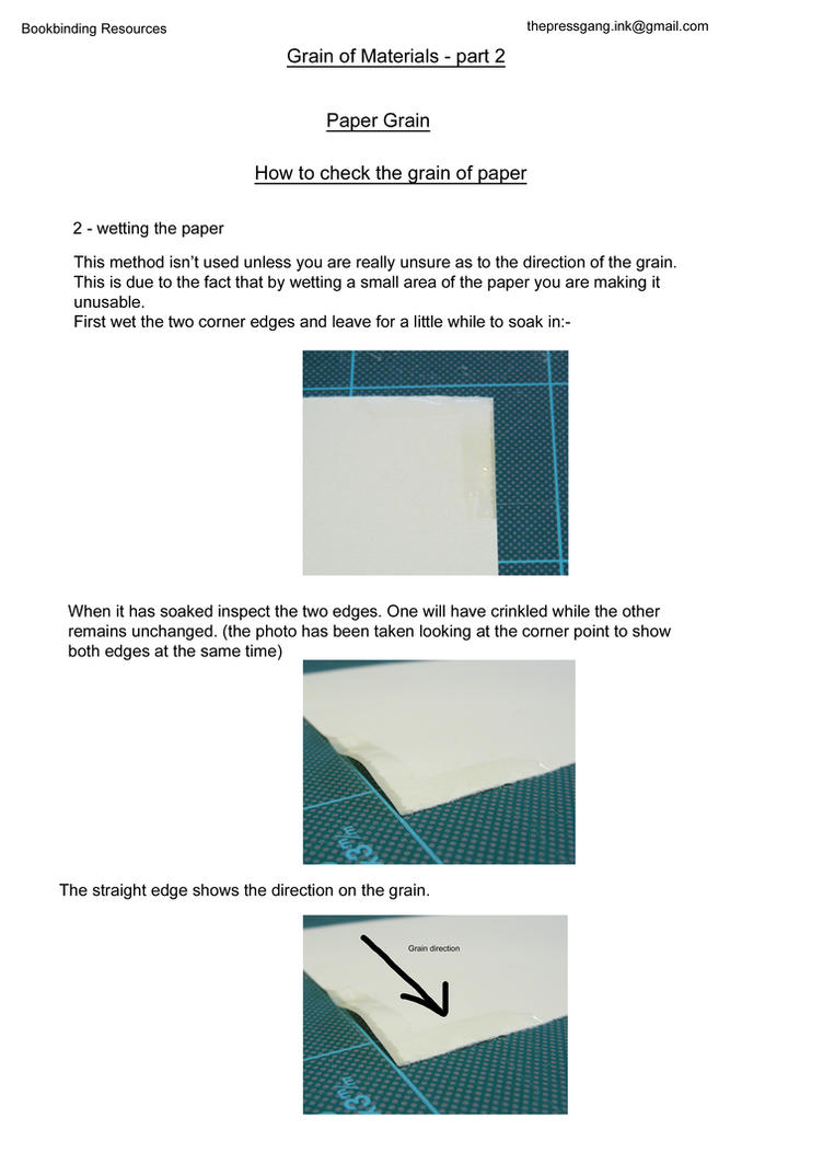 Grain of bookbinding materials part 2 by ThePressGang-ink