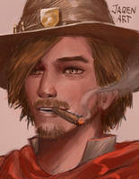 Young Mccree by JaqenArt