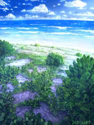 Beach background.
