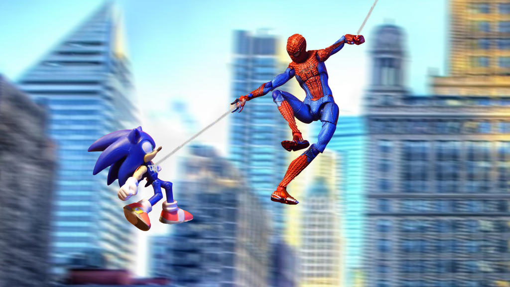sonic and spider man by milesprowerfan4ever on deviantart