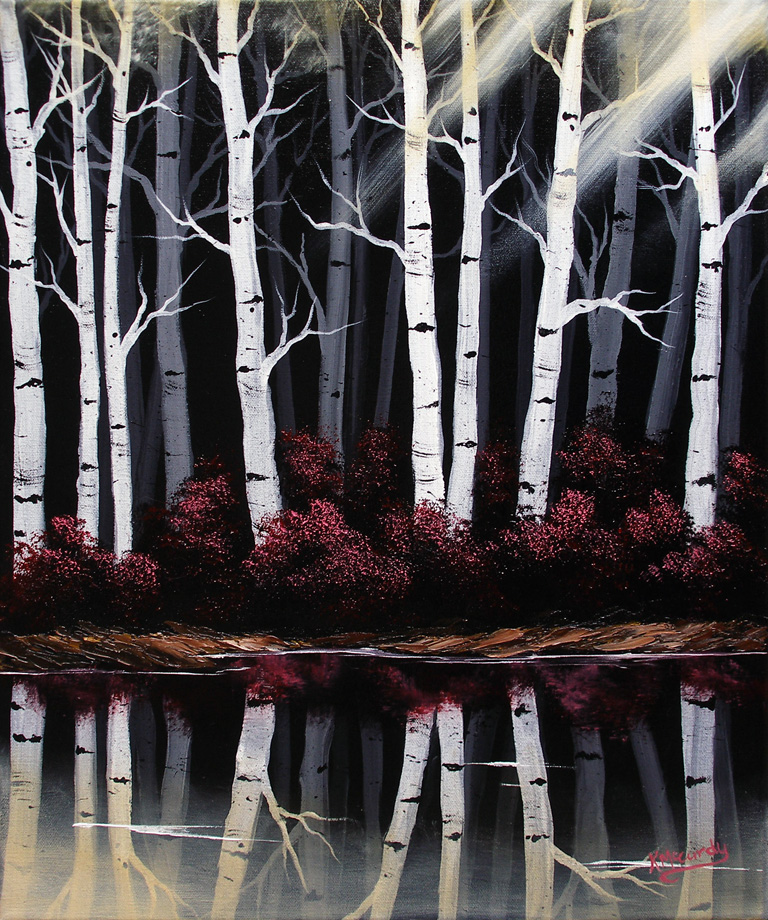 Mirrored Birches 2 by Kchan27