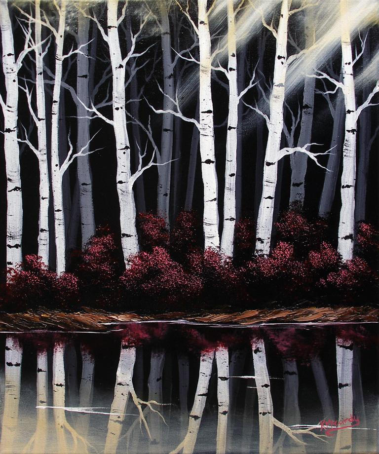 Mirrored Birches 2 by Kchan27