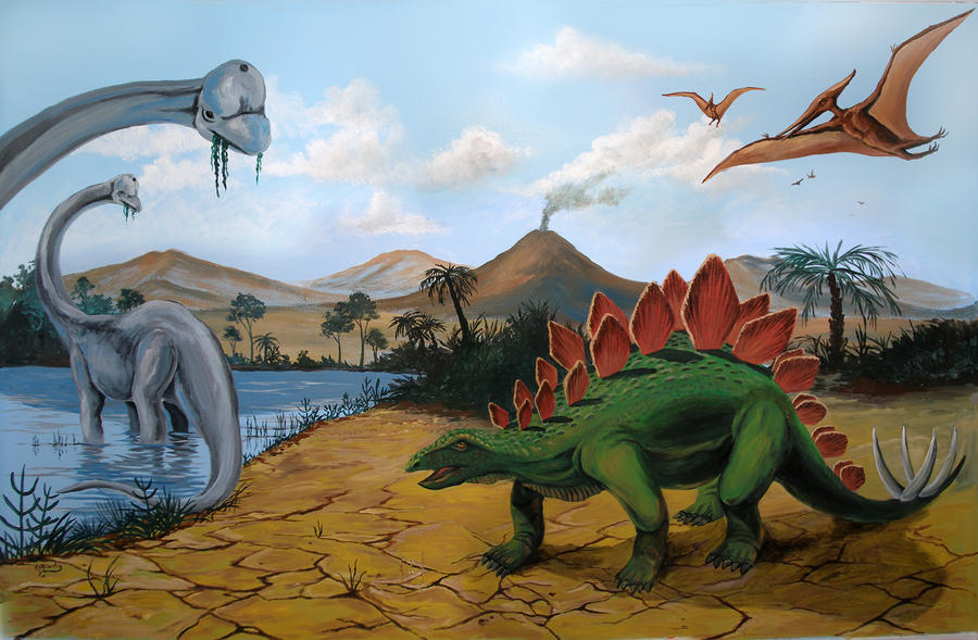 Dinosaur Mural by Kchan27 on deviantART