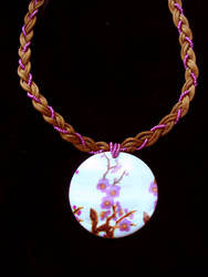 Braided Sakura necklace