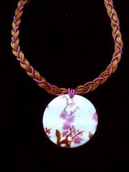 Braided Sakura necklace