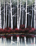 Reflection of Birches
