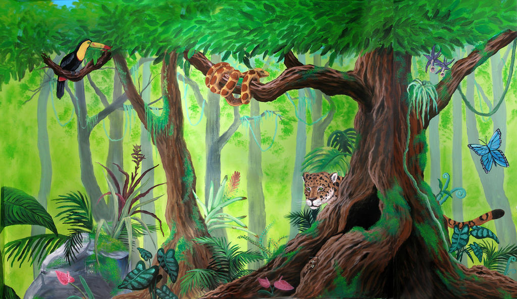 Rainforest Mural by Kchan27 on DeviantArt