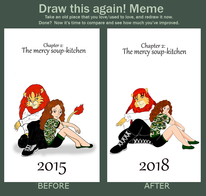 Draw This Again Meme Cover Chapter Number 2 By Omit Story On Deviantart