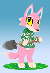 Freya with Shovel