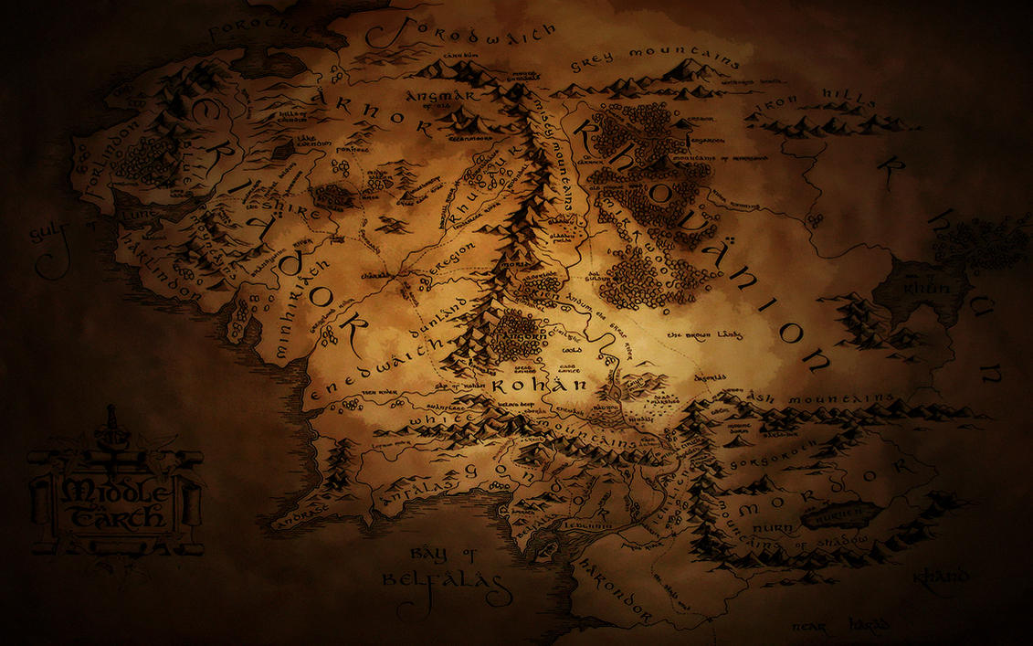 Middle Earth Map Wallpaper 2 by JohnnySlowhand