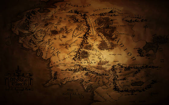 Middle Earth Map Wallpaper 2