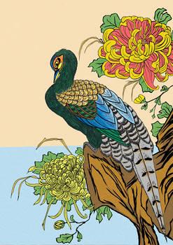 After Utagawa Hiroshige,Chrysanthemum and Pheasant