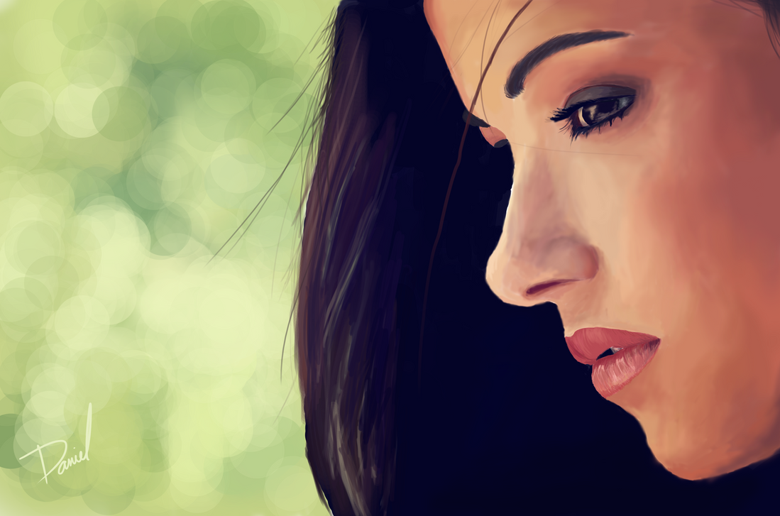 Girl looking down by daniellemke on deviantart for How to draw a girl looking down