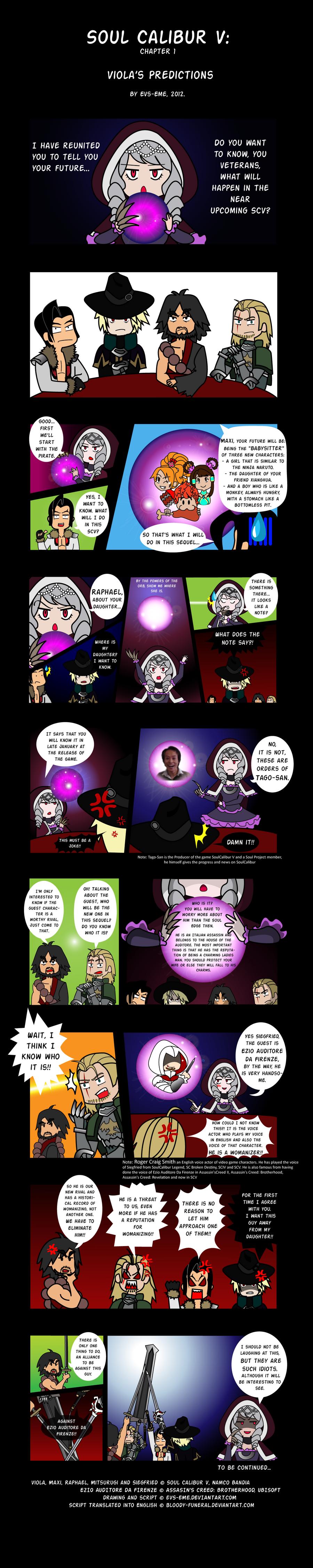 Soul Calibur V- chapter I: Viola's Predictions by evs-eme