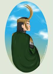 portrait of Loki by pitchblack1994