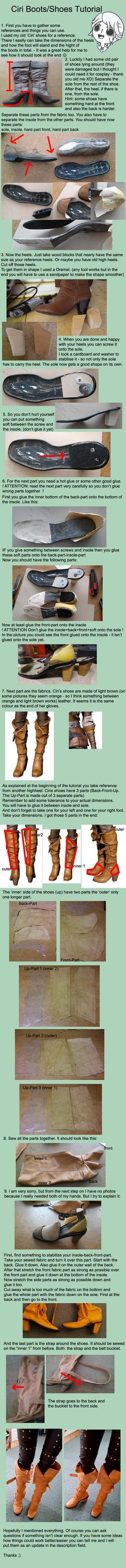 Ciri Shoes Tutorial by SilverGrayDash