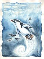 Martha the penguin by kiriOkami