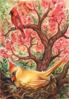The Cardinal and his wife ACEO by kiriOkami