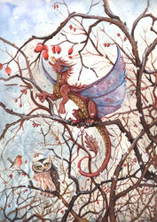 Winter Dragon by kiriOkami