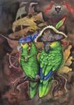 Parrots of the Caribbean by kiriOkami