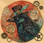 Steampunk Raven