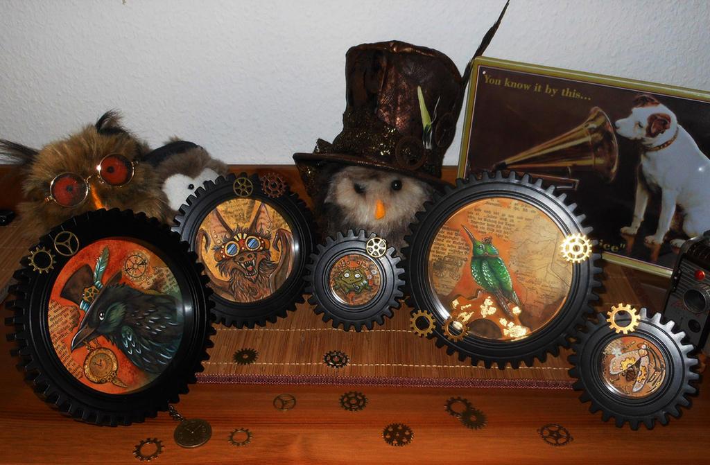 Steampunkanimals collab by kiriOkami