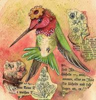 Steampunk Hummingbird 2 by kiriOkami