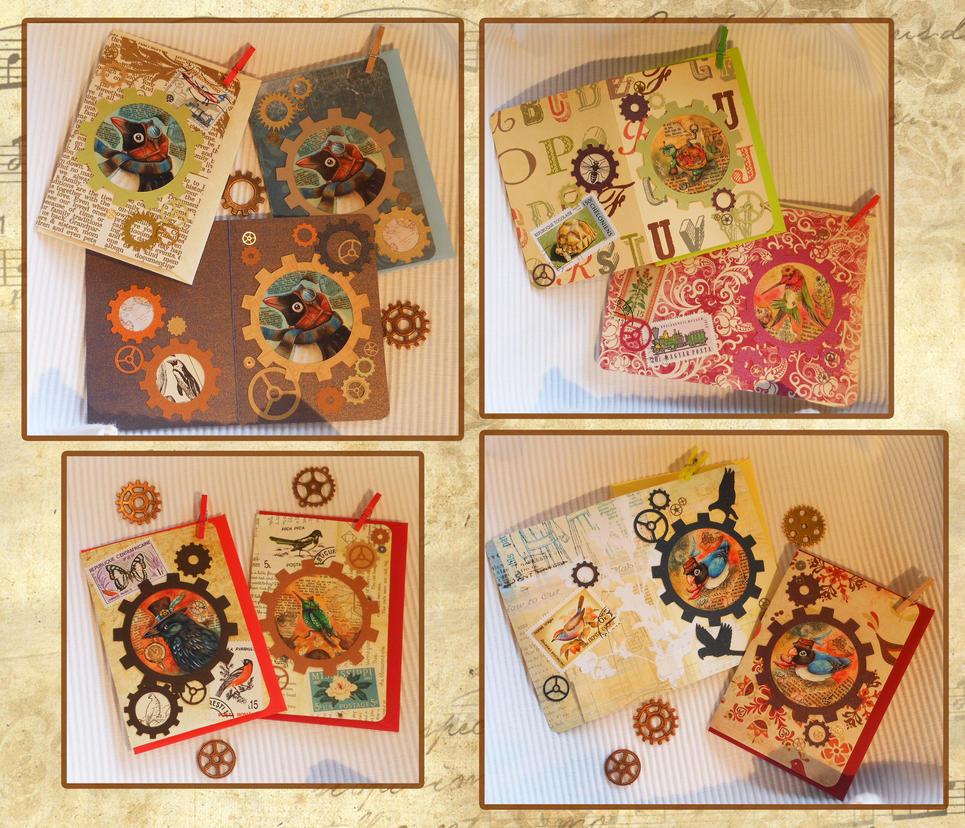 Steampunk Animals Greeting Cards By Kiriokami On Deviantart