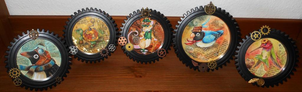 framed Steampunkanimals :)