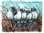 ACEO Dusty Woodswallows