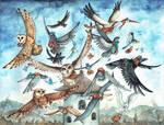 Post Birds by kiriOkami