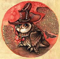 Steampunk Owl by kiriOkami