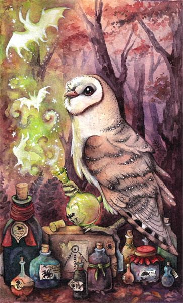 Magic Barn Owl by kiriOkami
