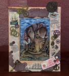 framed Steampunk Otter by kiriOkami